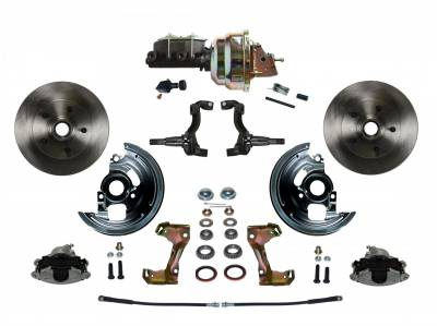 "GM AFX Front Power Disc Brake Conversion -  8"" Dual Booster Disc/ Drum Assembled"