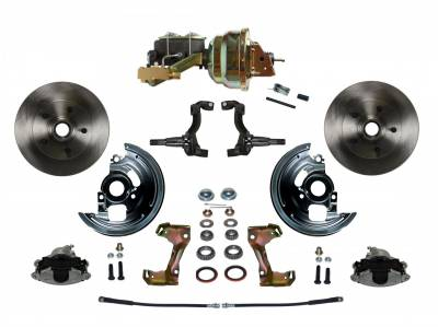 "GM AFX Front Power Disc Brake Conversion -  8"" Dual Booster 4 Wheel Disc"