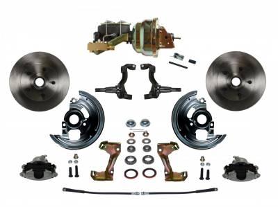 "GM AFX Front Power Disc Brake Conversion -  8"" Dual Booster 4 Wheel Disc Assembled"