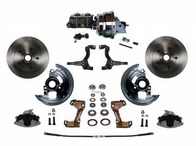 "GM AFX Front Power Disc Brake Conversion - 8"" Dual Chrome Assembled"