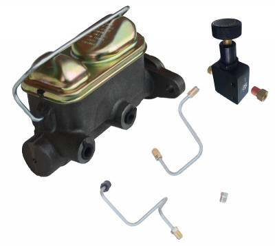 1965-66 Mustang Dual Bowl Master Cylinder Kit with Valve