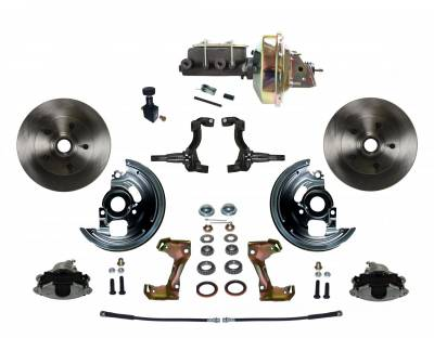 "GM AFX Front Power Disc Brake Conversion - 9"" Booster"
