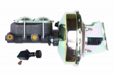 LEED Brakes - 9 inch power booster , 1-1/8 inch Bore master with adjustable valve GM Full Size, (Zinc)