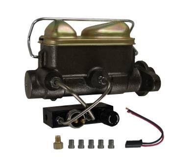LEED Brakes - Master Cylinder Kit - 1 inch Bore left port with bottom mount adjustable proportioning valve - Disc/Drum & Disc/Disc