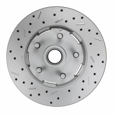 65-67 Mustang MaxGrip XDS Cross Drilled and Slotted Rotor LH