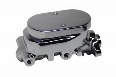 LEED Brakes - Master Cylinder 1 inch Bore Flat-Top Aluminum Master cylinder (chrome)