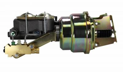 LEED Brakes - 7 inch Dual power booster , 1-1/8 inch Bore master, sidemount valve, disc/disc (Zinc)