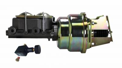 LEED Brakes - 7 inch Dual power booster , 1-1/8 inch Bore master, adjustable proportioning valve (Zinc)