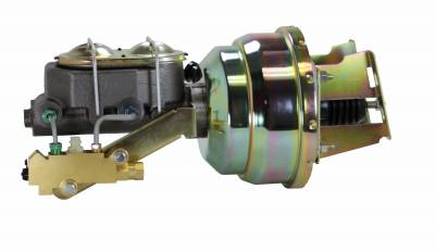 LEED Brakes - 8 inch Dual power booster , 1-1/8 inch Bore master, side mount valve, disc/disc (Zinc)