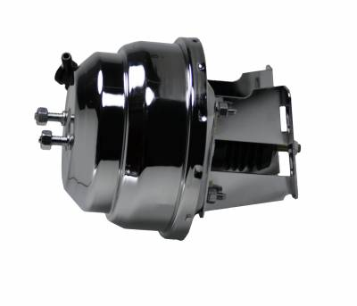 LEED Brakes - 8 inch Dual power booster with bracket kit (chrome)