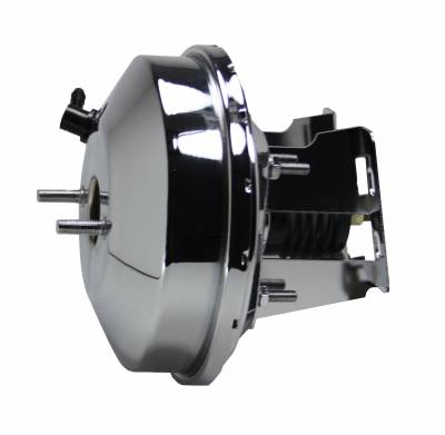 LEED Brakes - 9 inch power booster with bracket kit (chrome)