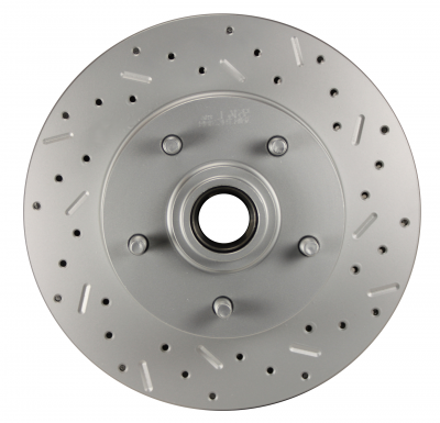 Chevelle Camaro MaxGrip XDS Cross Drilled & Slotted Rotor - Right Side