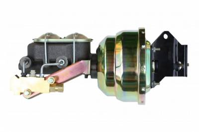 LEED Brakes - 8 inch Dual Power booster , 1 inch Bore master, side mount valve, drum/drum (Zinc)