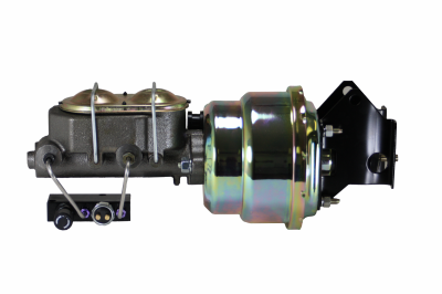 LEED Brakes - 7 inch Dual power booster , 1 inch Bore master with adjustable combo valve (Zinc)