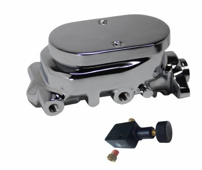 LEED Brakes - Master Cylinder Kit - Chrome 1 inch Bore left port with adjustable valve