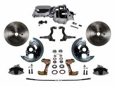 "GM AFX Front Power Disc Brake Conversion -  8""  Chrome Dual Booster"