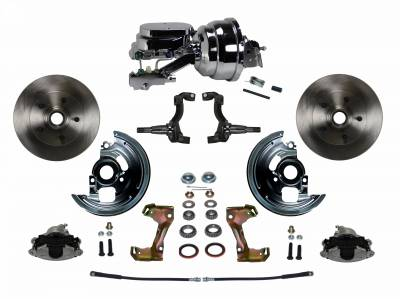 "GM AFX Front Power Disc Brake Conversion -  8""  Chrome Dual Booster 4 Wheel Disc"