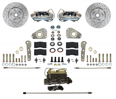 LEED Brakes Ford Galaxie Disc Conversion for factory Power Brake Cars