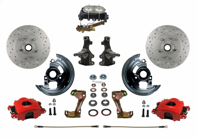 Leed Brakes Red Powder Coated Chevy Kit
