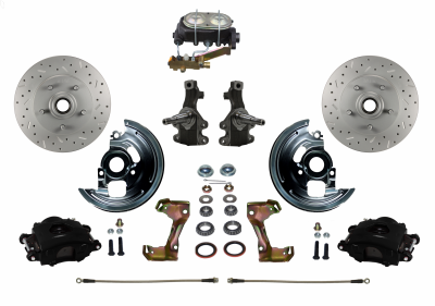 Leed Brakes Black Powder Coated Chevelle Kit