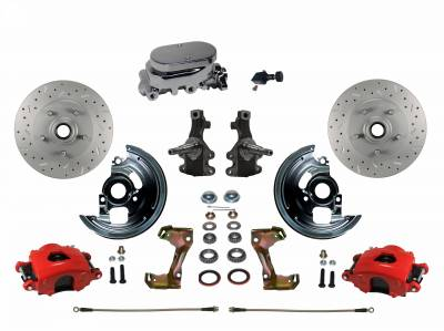 Leed Brakes Red Powder Coated Buick Brake Kit