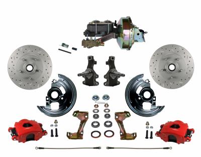 Leed Brakes Red Powder Coated Oldsmobile Disc Brake Kit