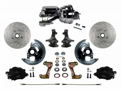 Leed Brakes Black Powder Coated F85 Front Disc Brake Kit