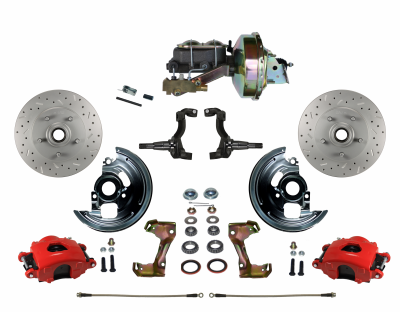 Firebird Front disc brake kit with Red Calipers