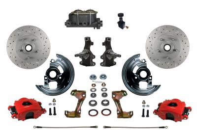 RFC1007-305X Red Powder Coated Disc Brake Kit