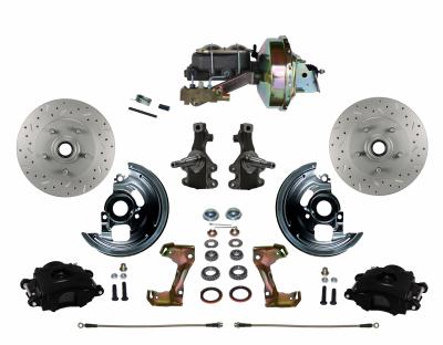 Leed Brakes BFC1007-E1A3X Black Powder Coat Brake Kit