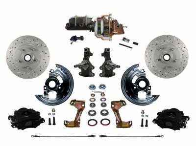 "BFC1007-105X Leed Brakes Black Powder Coated Nova 2"" Drop Conversion"
