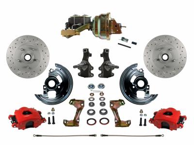 RFC1007-M1A3X Red Powder Coated Disc Brake Kit