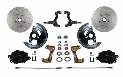 Nova Front Disc Brake kit with Black Calipers - LEED Brakes
