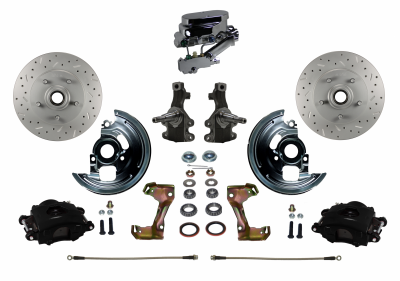 BFC1007-FA3X Black Powder Coated Manual Front Brake Kit
