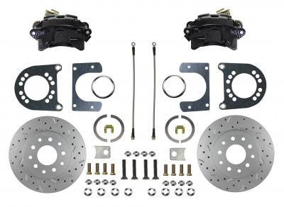 "Ford 9"" Large Bearing black powder coated rear disc brake conversion"
