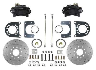 """Ford 9"""" Large Bearing """" New Style""""  black powder coated rear disc brake conversion"""