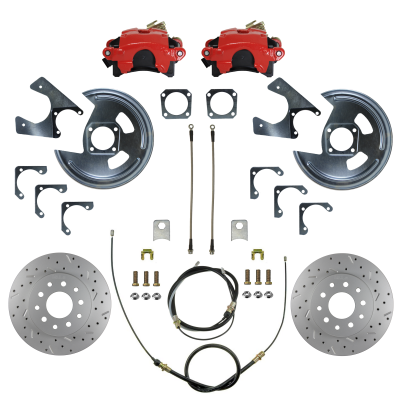 GM 10 & 12 Bolt rear disc brake kit 70-81 Camaro & Firebird Red Powder Coated