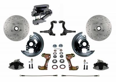 Chevy II Manual Front DIsc Brake Kit - LEED Brakes