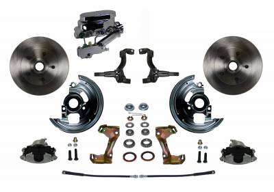 LEED Brakes - Manual Front Disc Brake Conversion with Chrome Aluminum Flat Top M/C Disc/Disc