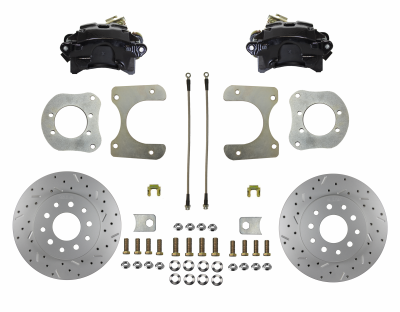 Mopar 8-1/4 9-1/4 Rear Disc Brake Kit Black Calipers LEED Brakes