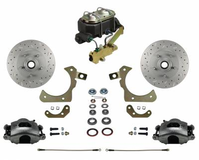 55-58 Chevy Disc Brake kit with MaxGrip Rotors
