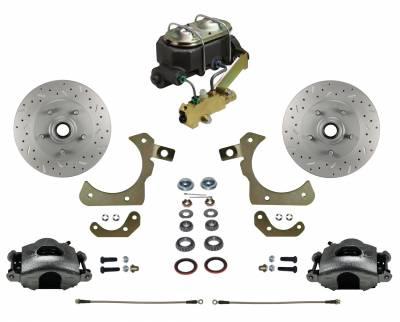 55-58 Chevy Disc Brake kit with MaxGrip Rotors