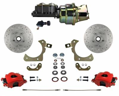55-58 GM Front Disc Brake Kit - LEED Brakes
