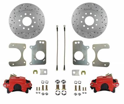 G Body Rear Disc Brake kit with Red Calipers