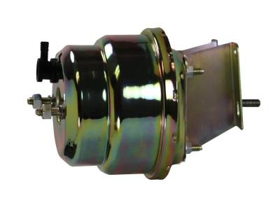 LEED Brakes - Compact-10 Series 7 inch Dual power booster Zinc Plated