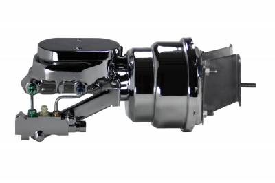 LEED Brakes Chrome 7 in Dual Diaphragm Booster and Master Combo for C10 Trucks