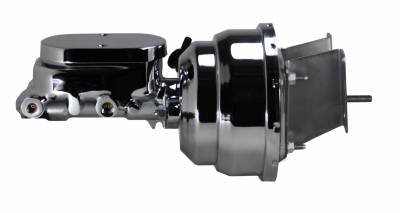 LEED Brakes Chrome 8 in Dual Diaphragm Booster and Master Combo for C10 Trucks
