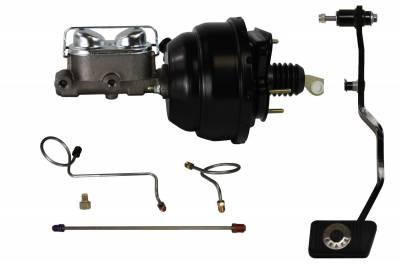1967-70 Mustang Power Drum Brake Kit - LEED Brakes