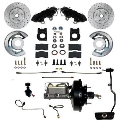 LEED Brakes Black Powder Coated Power Brakes