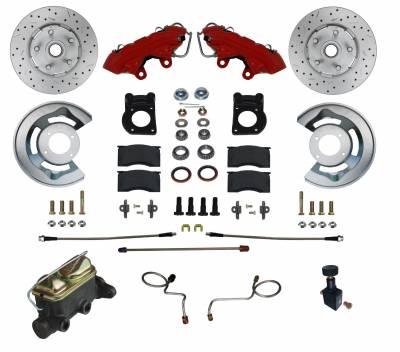 LEED Brakes Manual Brake Kit Red Powder Coated
